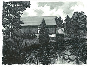 Scottsdale Drawings - Scottsdale Farm by Jonathan Baldock