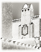 Castle In Valley Posters - Scottys Castle in Solarization Poster by Charlene Ambrose