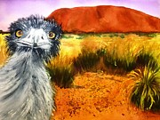 Emu Paintings - Scout by Therese Alcorn