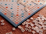 Macro Photography - Scrabble Board by Lynn-Marie Gildersleeve