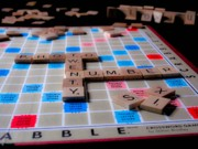 Board Game Posters - Scrabble Poster by Valerie Morrison