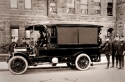 Bureau Prints - Scranton Pennsylvania  Bureau of Police  Paddy Wagon  Early 1900s Print by Arthur Miller