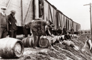 Barre Prints - Scranton Police Dumping Beer during prohibition  Scranton PA 1920 to 1933 Print by Arthur Miller
