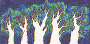 Subtle Drawings Acrylic Prints - Scratch Trees Acrylic Print by James Davidson