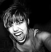 Anger Digital Art Metal Prints - Scream 2 Metal Print by Tilly Williams