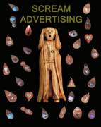 Jewellery Mixed Media Posters - Scream Advertising Poster by Eric Kempson