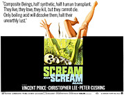 Horror Movies Posters - Scream And Scream Again, Half-sheet Poster by Everett