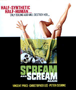 Horror Movies Framed Prints - Scream And Scream Again, Window Card Framed Print by Everett