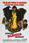 1970s Poster Art Photos - Scream Blacula Scream, Top Center by Everett