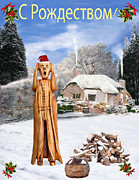 The Scream Mixed Media Prints - Scream Christmas Russia Print by Eric Kempson