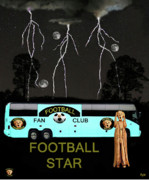 Rugby Union Mixed Media Posters - Scream Football Star Poster by Eric Kempson