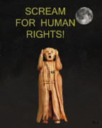 Protest Mixed Media Prints - Scream For Human Rights Print by Eric Kempson
