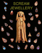 Jewellery Mixed Media Posters - Scream Jewellery Poster by Eric Kempson