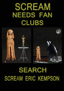 Screaming Mixed Media Posters - Scream Needs Fan Clubs Poster by Eric Kempson