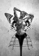 Surrealism Posters - Scream of a Butterfly II Poster by Photodream Art