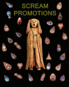 Jewellery Mixed Media Posters - Scream Promotions Poster by Eric Kempson