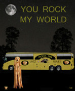 Olive Oil Mixed Media Prints - Scream Rock On Tour You Rock My World Print by Eric Kempson