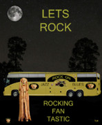 Rock Sculpture Mixed Media - Scream Rock You Tour by Eric Kempson