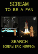 Space Shuttle Program Mixed Media Posters - Scream To Be A Fan Poster by Eric Kempson