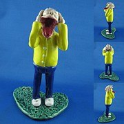 Cartoon Ceramics - Screamer by Bob Dann