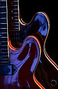 Art Ferrier Metal Prints - Screaming Guitars Metal Print by Art Ferrier