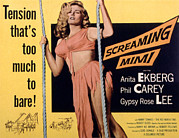Screaming Posters - Screaming Mimi, Anita Ekberg, 1958 Poster by Everett