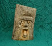 Carving Sculptures - Screaming Tree Spirit by Mike Burton