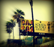 Traveling Posters - Screen Actors Guild in LA Poster by Susanne Van Hulst