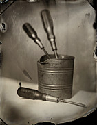 Tintype Prints - Screwdrivers Print by Chris Morgan