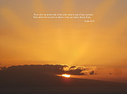 Scriptures Posters - Scriptue and Picture Psalm 65 8 Poster by Ken Smith
