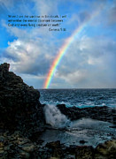 Nakalele Blow Hole Posters - Scripture and Picture Genesis 9 16 Poster by Ken Smith