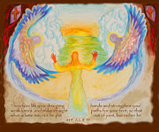 Anne Cameron Cutri Art - Scripture Illus. Hebrews Lift Your Drooping Hands by Anne Cameron Cutri