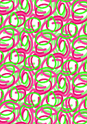 Lime Digital Art - Scroll by Louisa Knight
