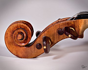 The Violin - Scroll Side View by Endre Balogh