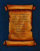 Bible Verse Pastels - Scroll With Christmas Message by Joyce Geleynse