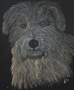 Drawn Pastels Prints - Scruffy Print by Honor Marks