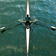 Sculling Prints - Scull Print by Gerard Hermand