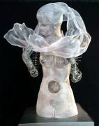 Woman Pyrography Originals - Sculpture 1 by Lydie Dassonville