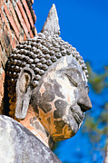 Brick Sculptures - Sculpture Buddha Face Texture Detail by Chatuporn Sornlampoo