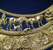 Precious Metal Posters - Scythian Gold Ornament, 4th Century Bc Poster by Ria Novosti
