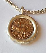 Old Jewelry Originals - Scythian King ancient Coin Necklace by Clayton Peshlakai
