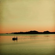 Norwegian Sunset Posters - Sea after sunset Poster by Sonya Kanelstrand
