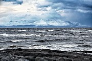 Antarctic Framed Prints - Sea And Mountain In Winter Framed Print by Bgdl