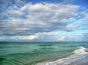 Wave Art Photos - Sea and Sky - Florida by Sandy Keeton