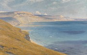 Ocean Cliff Prints - Sea and Sunshine   Lyme Regis Print by Sir Frank Dicksee