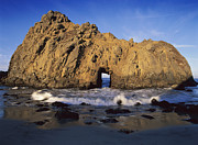 Sea Arch At Pfeiffer Beach Big Sur Print by Tim Fitzharris