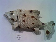 Fish Sculpture Ceramics - Sea Bass by Jennifer Leaf