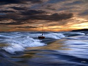 Sea Digital Art Originals - Sea Billows Roll by Bill Stephens