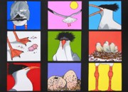 Sea Bird Kaleidoscope Print by Renata Wright