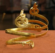 Ancient Greek Jewelry Prints - Sea dragon bracelet Print by Andonis Katanos